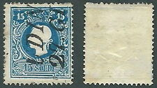 1864-65 LOMBARDO VENETO USATO 15 S I TIPO - A121