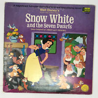 Walt Disney Snow White And The Seven Dwarfs LP Vinyl Record Story & Songs 1969