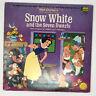 Walt Disney Snow White And The Seven Dwarfs LP Vinyl Record Story & Songs 1969