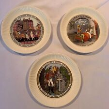 Wedgwood Children's Collector Plates Set Of 3 Vintage Euc Collectible Display