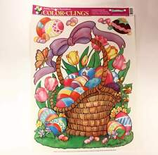 """Vintage 23.5 In. X 17 In. Sheet Window Decorations Color-Clings """"Easter"""""""