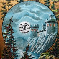 1880s Antique Castle Moonlight Thurber's ELECTRA Trade Card Gold Polish Forbes