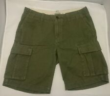 34 MENS FOSSIL Cargo Shorts Army GREEN Short Pants 100% Cotton USED GREAT SHAPE