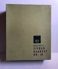 Vintage Sony DR-3A Stereo Headset Headphones in Original Box 8 Ohm Headset