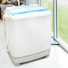 Twin Tub Mini Washing Machine Spin Dryer 7.2kg Portable Electric Self Drain Pump