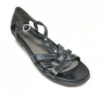 Women's Dansko Strappy Sandals Shoes Sz 39 EU/8.5-9 US Black Leather Casual AH2