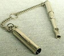 More details for vintage acme patent 486417 dog whistle retractable adjustable tone & chain