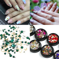 Nail Art Glitter Mix Glass Rhinestone Crystal Alloy Manicure Decoration 1 Box