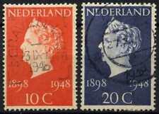 Netherlands 1941 SG#670-1 Golden Jubilee Used Set #D71558