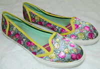 "POETIC LICENCE Poetic License BALLET FLATS ""Fruit Punch"" FLORAL Sz 7 Teal PINK T"