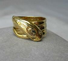 Snake Ring 18K Gold Rose Cut Diamond Victorian Belle Epoque c1860 Antique Rare