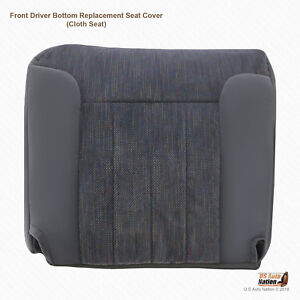 1996 Dodge Ram 1500 2500 3500 Driver Side Bottom Fabric Seat Cover Color Gray