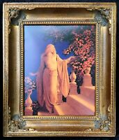 Maxfield Parrish Enchantment / Cinderella Art Nouveau Deco Framed Print 11x13
