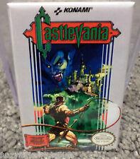 "Castlevania Nintendo NES Vintage Game Box  2"" x 3"" Refrigerator Locker MAGNET"