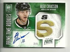2013-14 Panini Prime Time Rookies ALEX CHIASSON Patch Autograph Serial # 2 of 5