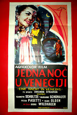 NIGHT IN VENICE 1953 JEANNETTE SCHULTZE  JOHANN STRAUSS OPERA EXYU MOVIE POSTER