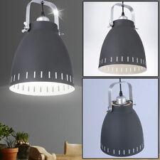 Chrom Decken Pendel Hänge Leuchte Lampe weiß Beleuchtung Wohn Zimmer Küche Büro