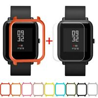 Case Cover Shell For Xiaomi Huami Amazfit Bip Youth Watch with Screen Protectors