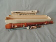 Collectible Saturn Blockflote wooden recorder with instructions