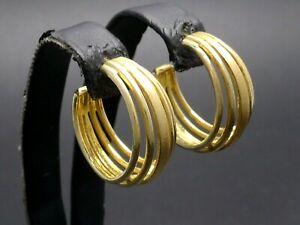 Ohrringe 925 Sterling SILBER vergoldet earrings Kreolen creolen design argento
