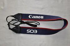 VINTAGE CANON  NAVY/RED  SHOULDER NECK STRAP FOR SLR CAMERA  *C8**