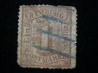 Altdeutschland Hamburg ab 1859 - Wertangabe im Hamburger Wappen 1 Schilling