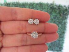 .79 CTW Diamond Earrings & Ring Set 14k Twotone Gold JS90 sep (PRE-ORDER)