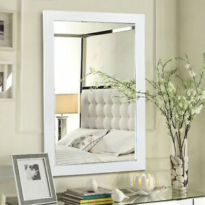 Bathroom Mirror White Long Wall Mounted Bedroom Dressing Room Hallway Make Up