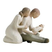 Willow Tree New Life Figurine 26029 Mother Father & Baby in Branded Gift Box