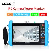 7inch 4K 1080P IPC Camera CCTV Tester Monitor CVBS PoE Analog Test IP Discovery