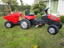 Kindertraktor Active Pedale Traktor in rot mit Anhänger, verstellbarer Sitz