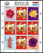 PARAGUAY - FLOWERS Mi # 3664/3666 + 3665, KLEINBOGEN, SPECIMEN, MNH