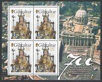 2009 Gibilterra ,Nostra Signora d'Europa 1 BF Congiunta/Joint Issue MNH **