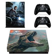 Xbox one X Console Skin Jurassic World Vinyl Cover Skin Decal Sticker Set Wrap