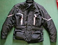 "Crane black textile armoured motorcycle jacket size chest 42-44"" large"
