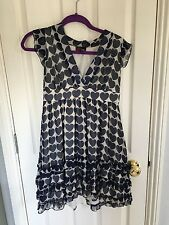 Yumi Navy Heart Swing Dress, Size S