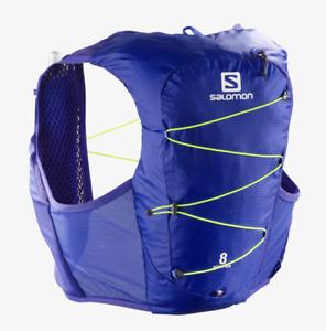 2021 Salomon Active Skin 8 Set Unisex Running Vest - Medium - Clematis Blue