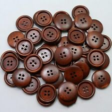 Natural wood button Round 4-holes button Sewing clothes crafts Scrapbooking