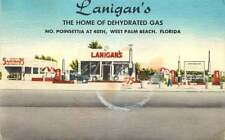 Roadside Postcard Lanigan's Gas Station & Car Wash, West Palm Beach, Florida