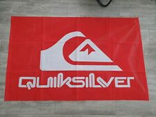 "Official Quiksilver Beach Flag Retail Advertising Surfing Surf Shop Sign 35""x57"""