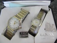 GENEVA HIS AND HERS GOLD SILVER WATCH CLASSIC COLLECTION NEED BATTERIES NICE