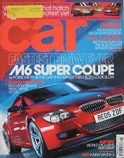 CAR 06/2005 featuring DeLorean, BMW, Porsche, Ariel Atom, Honda, Ford, Vauxhall