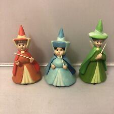 Disney Sleeping Beauty Fairies Flora Fauna Merriweather Porcelain Figure Set