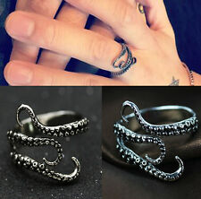 Men Stainless Steel Biker Gothic Ring Octopus Rings Jewelry Fashion Adjustable #