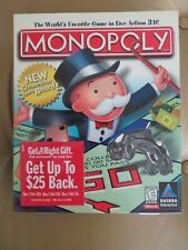 MONOPOLY the world's favorite game in live action 3~D Hasbro Interactive CD~ROM