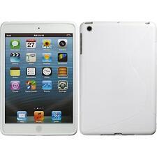 Funda de silicona Apple iPad Mini 3 2 1 S-Style - blanco + protector de pantalla