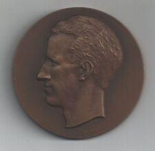 Belgie-Belgique Medaille Brons koning Boudewijn diameter 70mm 175gr (lot C)