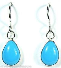 7x10mm Teardrop Sleeping Beauty Turquoise 925 Sterling Silver Dangle Earrings