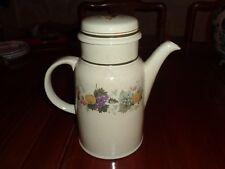 Royal Doulton Lambethware 1976 Coffee Pot HARVEST GARLAND