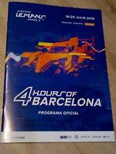 PROGRAMA OFICIAL 4 HOURS OF BARCELONA EUROPEN LEMANS SERIES 19/20-07-2019